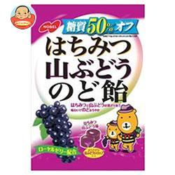 ノーベル製菓 糖質50%オフ はちみつ山ぶどうのど飴 90g×6袋入