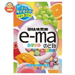 UHA味覚糖 UHAピピン e-maのど飴 袋 (カラフルフルーツチェンジ) 50g×6袋入