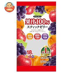 リボン 18本果汁100% スティックゼリー 18本×12袋入