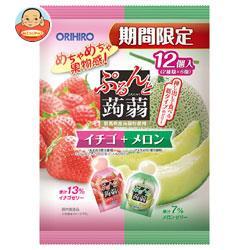 オリヒロ ぷるんと蒟蒻ゼリー イチゴ+メロン 20gパウチ×12個×12袋入