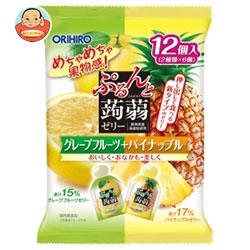 オリヒロ ぷるんと蒟蒻ゼリー グレープフルーツ+パイナップル 20gパウチ×12個×12袋入