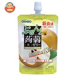 オリヒロ ぷるんと蒟蒻ゼリー 梨 130gパウチ×48本入