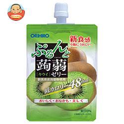オリヒロ ぷるんと蒟蒻ゼリー キウイ 130gパウチ×48本入