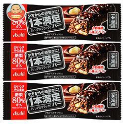 アサヒフード 1本満足バー シリアルブラック 糖類80%オフ 9本入