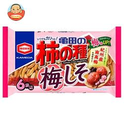 亀田製菓 亀田の柿の種 梅しそ 6袋詰 182g袋×12袋入