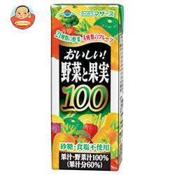 らくのうマザーズ おいしい野菜と果実 200ml紙パック×24本入