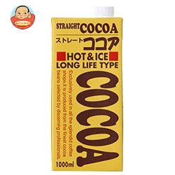 ジーエスフード GS ストレートココア 1000ml紙パック×6本入