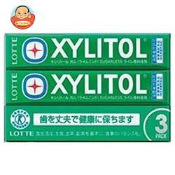 ロッテ キシリトールガム ライムミント【特定保健用食品 特保】 3P×10個入