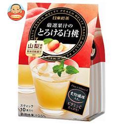 三井農林 日東紅茶 厳選果汁のとろける白桃 9.5g×10本×24個入