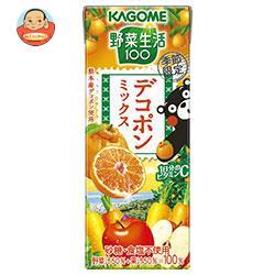 カゴメ 野菜生活100 デコポンミックス 195ml紙パック×24本入
