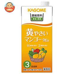 カゴメ 濃縮飲料 黄やさい・マンゴーミックス(3倍希釈) 1L紙パック×12(6×2)本入