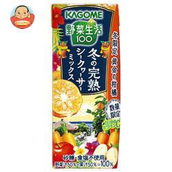 カゴメ 野菜生活100 冬の完熟シークヮーサーミックス 195ml紙パック×24本入