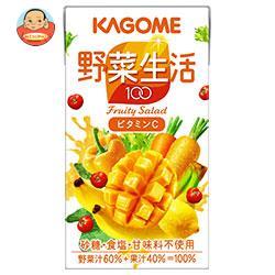 カゴメ 野菜生活100 フルーティーサラダ 125ml紙パック×24本入