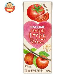 カゴメ 東北応援 トマト&りんご 200ml紙パック×24本入