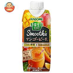 カゴメ 野菜生活100 Smoothie マンゴーピーチスムージーMix 330ml紙パック×12本入