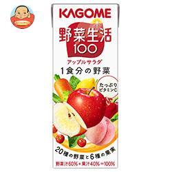カゴメ 野菜生活100 アップルサラダ 200ml紙パック×24本入
