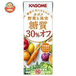 カゴメ 野菜と果実 糖質30%オフ 200ml紙パック×24本入