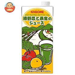 カゴメ 緑野菜と果実のジュース(ホテルレストラン用) 1L紙パック×12(6×2)本入