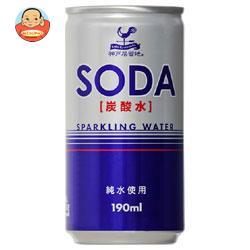 富永貿易 神戸居留地 ソーダ(炭酸水) 190ml缶×30本入