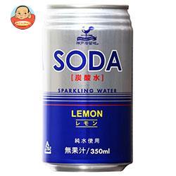 富永貿易 神戸居留地 ソーダ炭酸水レモン 350ml缶×24本入