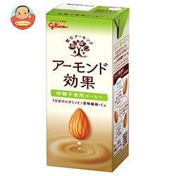 グリコ乳業 アーモンド効果 砂糖不使用コーヒー 200ml紙パック×24本入