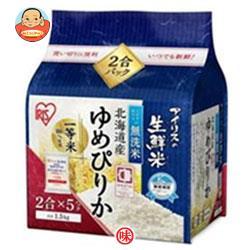 アイリスオーヤマ 生鮮米 無洗米 北海道産ゆめぴりか 1.5kg×4袋入