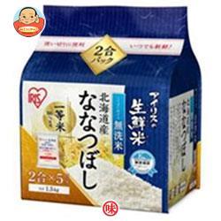 アイリスオーヤマ 生鮮米 無洗米 北海道産ななつぼし 1.5kg×4袋入