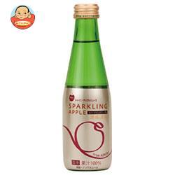 青森県りんごジュース シャイニー スパークリングアップル 200ml瓶×24本入