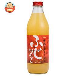 青森県りんごジュース シャイニー 青森のおもてなし ふじ 1L瓶×6本入