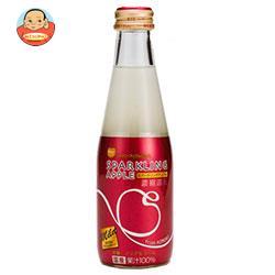 青森県りんごジュース シャイニー スパークリングアップル マイルド 200ml瓶×24本入