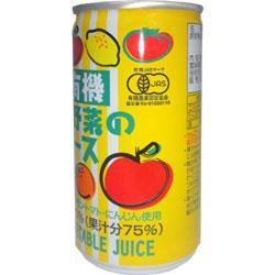 光食品 有機果実と野菜のジュース 190g缶×30本入