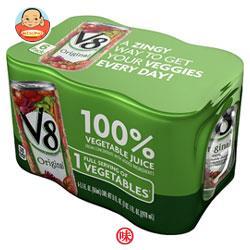 キャンベル V8野菜ジュース 163ml缶×24(6×4)本入