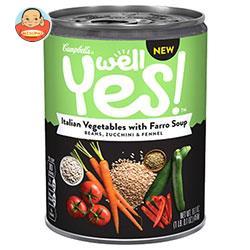 キャンベル Well Yes!(ウェルイエス) イタリアンベジとファッロのスープ 458g×12個入