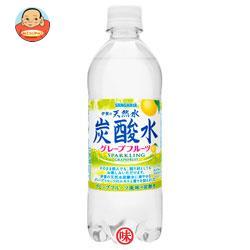 サンガリア 伊賀の天然水 炭酸水 グレープフルーツ 500mlペットボトル×24本入