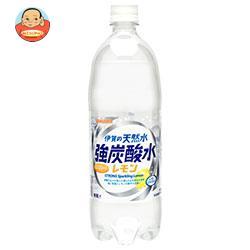 サンガリア 伊賀の天然水 強炭酸水 レモン 1Lペットボトル×12本入