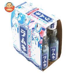 サンガリア 日本の味ラムネ(6本パック) 200ml瓶×30本入