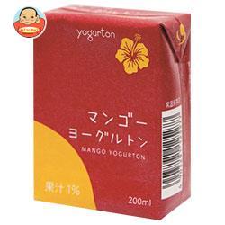 ヨーグルトン乳業 マンゴー ヨーグルトン 200ml紙パック×16本入