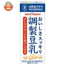 ソヤファーム おいしさスッキリ 調製豆乳【特定保健用食品 特保】 200ml紙パック×24本入