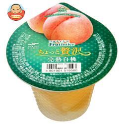マルハニチロ フルティシエ ちょっと贅沢 完熟白桃 210g×24(6×4)個入