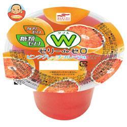 マルハニチロ ゼリーdeゼロW(ダブル) ピンクグレープフルーツ味 ナタデココ入り 180g×24(6×4)個入