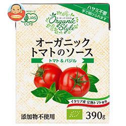 ナガノトマト オーガニック トマトのソース トマト&バジル 390g×12箱入