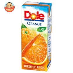 Dole(ドール) オレンジ 100% 200ml紙パック×18本入