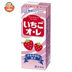 雪印メグミルク いちごオ・レ 200ml紙パック×24(12×2)本入