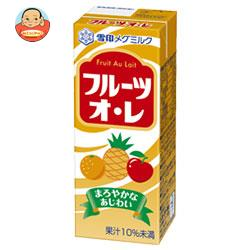 雪印メグミルク フルーツオ・レ 200ml紙パック×24(12×2)本入