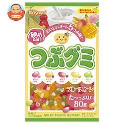 春日井製菓 つぶグミ フルーツオーレ 80g×6袋入
