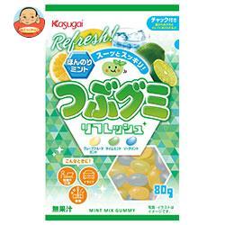 春日井製菓 つぶグミ リフレッシュ 80g×6袋入