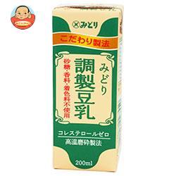 九州乳業 みどり 調製豆乳 200ml紙パック×24本入