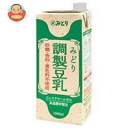 九州乳業 みどり 調製豆乳 1000ml紙パック×12(6×2)本入