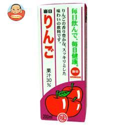 毎日牛乳 毎日りんご 200ml紙パック×24本入