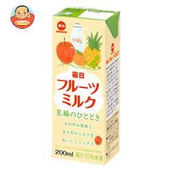 毎日牛乳 毎日フルーツミルク 200ml紙パック×24本入